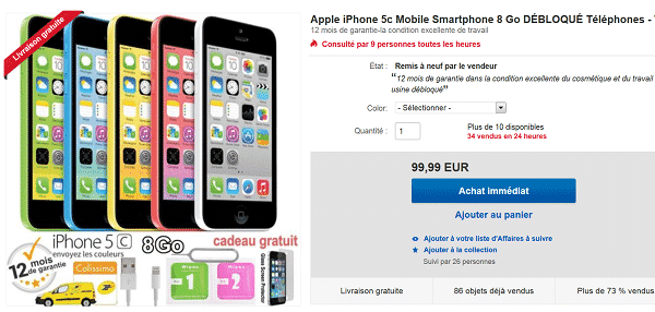 iphone5C-reconditionne-a-99-euros