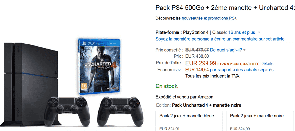 pack-PS4-uncharted-2-manettes-en-promo