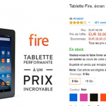 Tablette Fire Amazon à seulement 39.99€