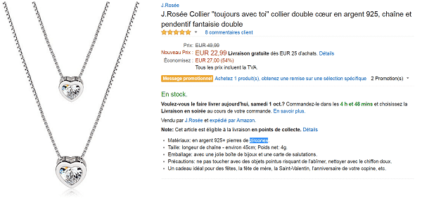 bijoux-argen-collier-pas-cher-amazon