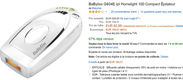 amazon-epilateur-lumiere-pas-cher
