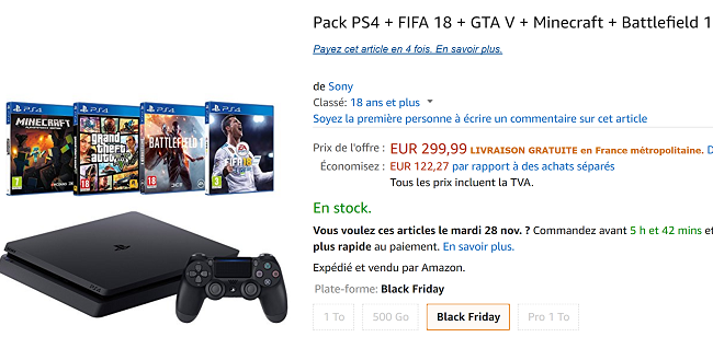 Pack PS4 pas cher