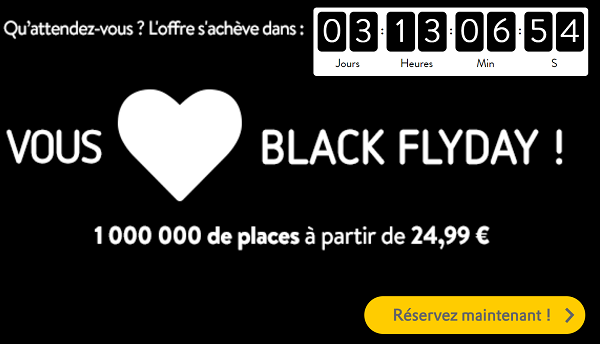 Black Friday Vuelving : billent à partir de 24,99