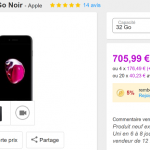 iPhone 7 Noir Mat 32 Go à 675 €