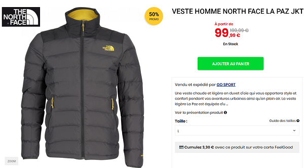 Promotion doudoune the north face