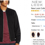 Veste New Look Homme à 12,38 € sur Amazon