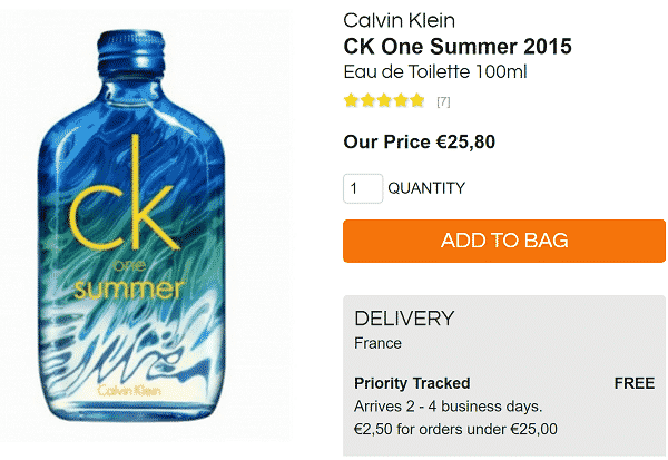 Parfum CK Summer en promotion