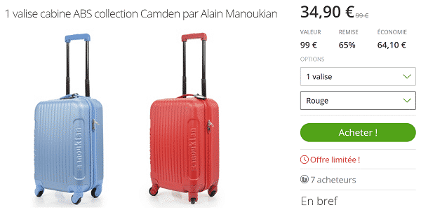 Valise Cabine pas cher