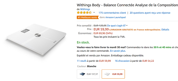Balance Withings Pas cher