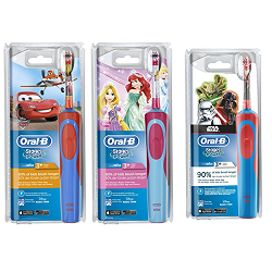 Brosse à dents électrique Oral B enfant (Princesses, Star Wars, Cars) en promotion