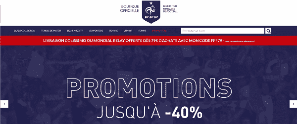 boutique officielle de la FFF