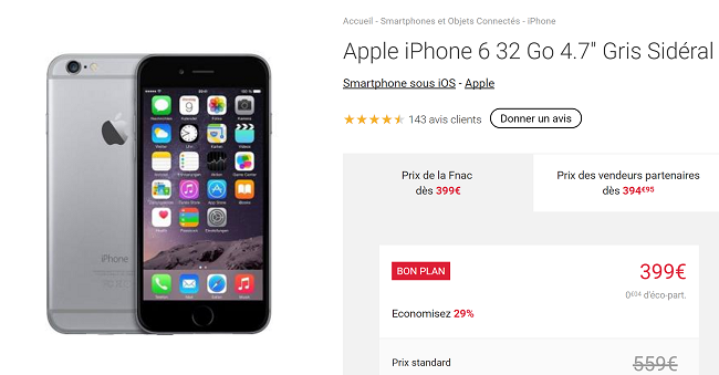 iPhone 6 en promotion
