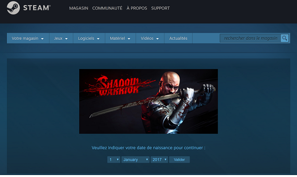 Jeu Shadow Warrior gratuit sur Steam