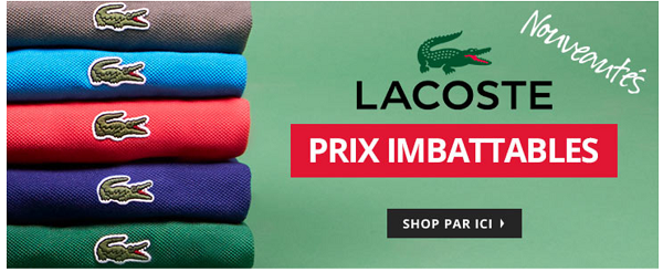Destockage Lacoste sur MandM Direct