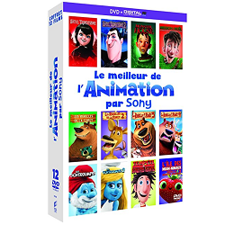Coffret DVD 12 films d'animation Sony Pictures à seulement 15 €