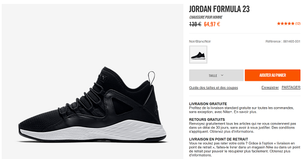Air Jordan Forumla 23 en promotion