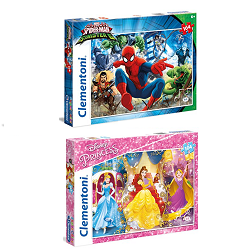 Puzzle Spiderman ou Disney Princess (104 pièces)  à 6,99 € sur Amazon