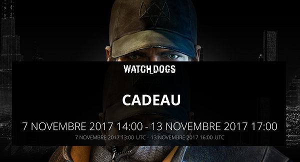 Watch Dog offert par Ubisoft