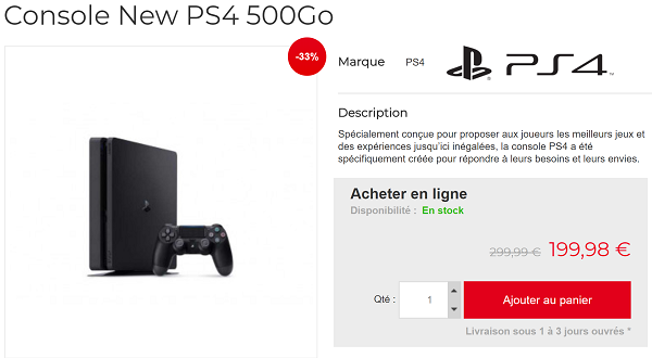 PS4 Slim en promotion