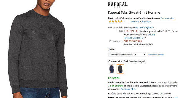 Sweat Kaporal en promotion
