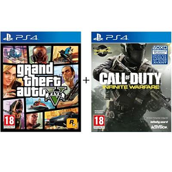 Pack 2 Jeux PS4 : GTA V + Call of Duty Infinite Warfare à 24,99 € sur Cdiscount