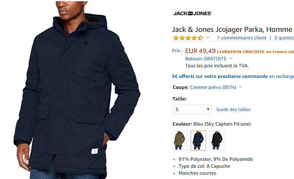 bon plan parka Jack & Jones