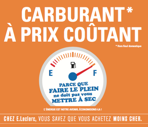Carburant à prix coûtant chez Leclerc