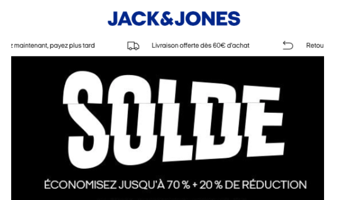 Code promo Jack Jones site officiel