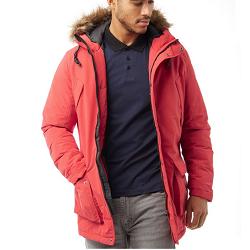 Manteau Jack and Jones rouge à prix réduit