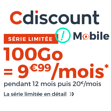 Cdiscount Mobile en promotion